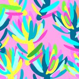 Seamless summer tropical floral pattern Stock Photography