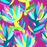 Seamless summer tropical floral pattern Royalty Free Stock Photo