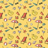 Seamless summer vacation travel pattern Stock Photography