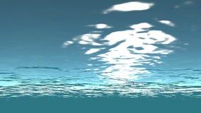 Seamless sun light and ocean underwater stock video