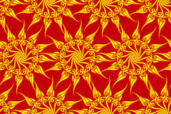 Seamless sun magic pattern Stock Image