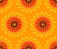 Seamless Sun Pattern Royalty Free Stock Photos