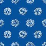 Seamless Sun Pattern Stock Photos