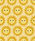 Seamless sun pattern. Seamless cute sun cartoon pattern Vector Illustration