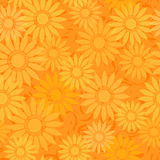 Seamless sunflowers pattern background royalty free illustration
