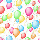 Seamless sunny background with color balloons and  Stock Image