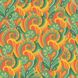 Seamless sunny indian pattern Stock Photography