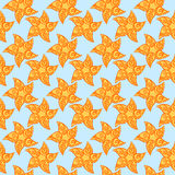 Seamless suns or stars background Stock Images