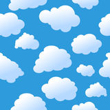 Seamless sunshine background. Seamless background with cute clouds Stock Images