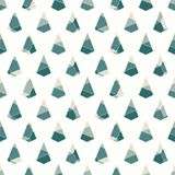 Seamless surface pattern with cracked stones. Repeated mini triangles abstract wallpaper. Ruined kite shapes motif. stock illustration