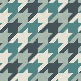Seamless surface pattern with houndstooth ornament. Classic fashion fabric print. Checked geometric background. Seamless surface pattern design with houndstooth Stock Photo