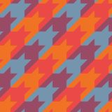 Seamless surface pattern with houndstooth ornament. Classic fashion fabric print. Checked geometric background. Seamless surface pattern design with houndstooth Stock Photography