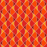 Seamless surface pattern with fire symbols. Contemporary print with repeated spurts of flame. Abstract background. Seamless surface pattern with fire symbols Stock Illustration