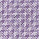 Seamless surface pattern with houndstooth ornament. Classic fashion fabric print. Checked geometric background. Seamless surface pattern design with houndstooth stock illustration