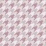 Seamless surface pattern with houndstooth ornament. Classic fashion fabric print. Checked geometric background. Seamless surface pattern design with houndstooth Royalty Free Stock Image