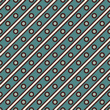 Seamless surface pattern repeated diagonal lines and circles. Geometric background. Grid ornamental surface texture. Royalty Free Stock Photography