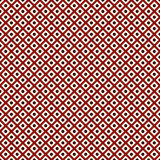 Seamless surface pattern with symmetric ornament. Repeated diagonal lines and circles texture. Geometric background. Stock Images