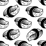 Seamless sushi pattern Stock Photo