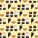 Seamless sushi pattern royalty free illustration