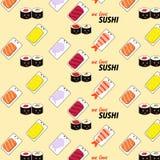 Seamless sushi pattern Royalty Free Stock Photography