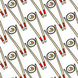 Seamless sushi pattern. Vector illustration Stock Images