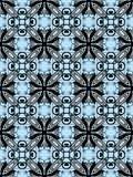 seamless svart blå deco för konst Arkivbild