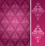 Seamless swans pattern in two colors Stock Photography