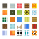 Seamless Swatch Pattern Set Stock Images