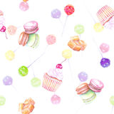Seamless sweet dessert pattern Royalty Free Stock Photography