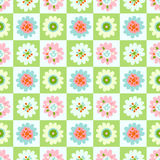 Seamless sweet flower pattern with square Royalty Free Stock Photo