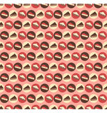 Seamless sweet pattern. Pieces of pie and cake on pink Stock Images