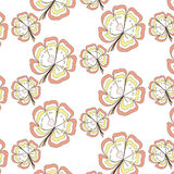 Seamless sweet pattern in the yellow and pink Stock Photography