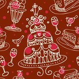 Seamless sweets pattern Royalty Free Stock Photo