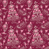 Seamless sweets pattern Royalty Free Stock Photography