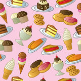 Seamless Sweets Pattern Stock Photos