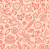 Seamless sweets pattern Royalty Free Stock Image