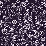 Seamless swirl black-white wallpaper Stock Images