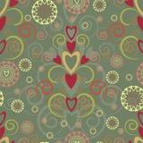 seamless swirl för hjärtamodell Arkivfoto