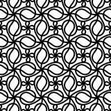 Seamless swirl flowers background Stock Image
