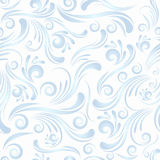 Seamless Swirl Ornament In Blue Color Stock Photos