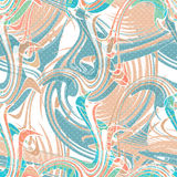 Seamless swirl ornament with retro colors elements Stock Photos