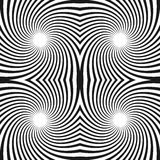 Seamless swirl pattern. Radiating lines with spiral distortion. Stock Images