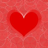 Seamless Swirl Pattern with red heart. Vector Stock Photos