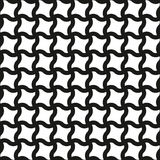 Seamless Swirl Shapes Black and White Pattern Royalty Free Stock Images