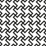 Seamless Swirl Shapes Black and White Pattern Stock Image