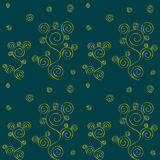 Seamless swirl tracery pattern Stock Images