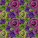Seamless swirls black Royalty Free Stock Image