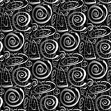 seamless swirls för tecknad film Arkivbilder