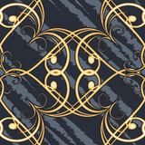 Seamless swirls retro pattern Royalty Free Stock Photography
