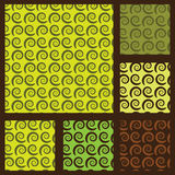 Seamless Swirly Pattern Backgrounds Royalty Free Stock Image